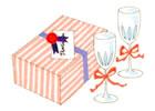 結婚内祝いの品物・お礼状を発送