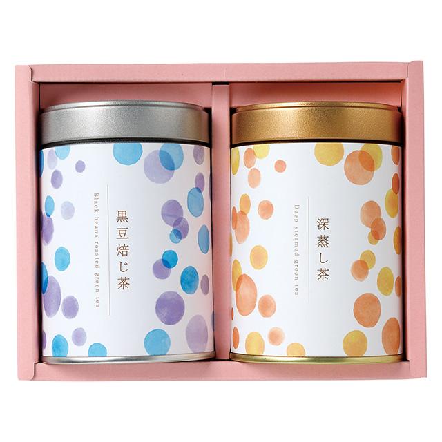ヤマダエン.シズオカ ティーバッグ(缶入)2本セット 黒豆焙じ茶&深蒸し茶