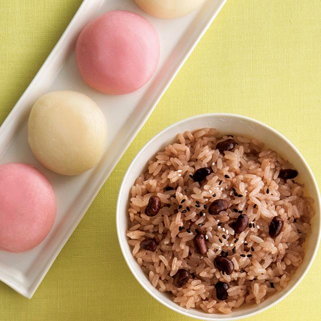 お赤飯&紅白まるもち4個セット+カタログ式ギフト サンクス オリーブグリーン
