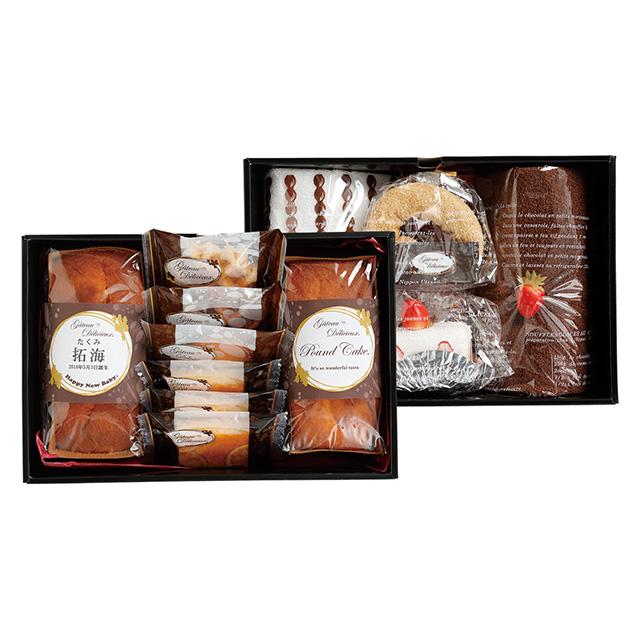 ガトー・デリシュー 焼菓子8個&ケーキタオル4枚セット