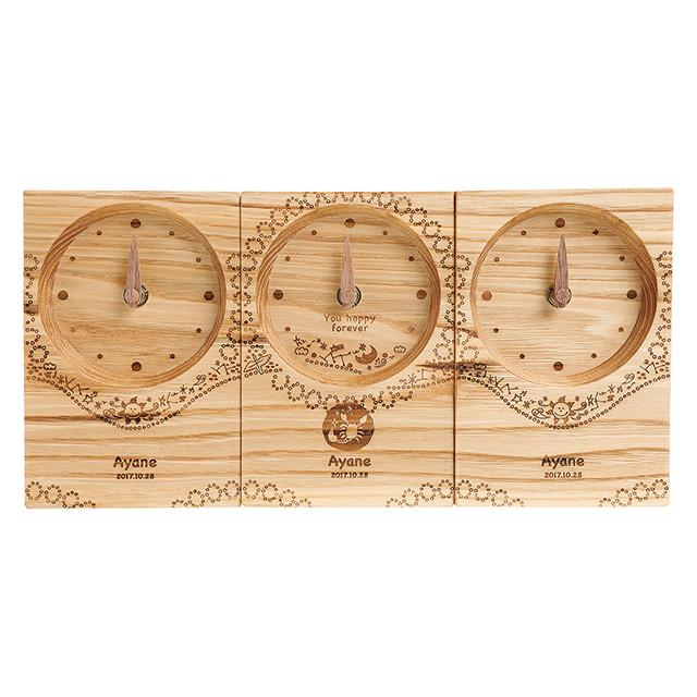 木の暮らし Baby時計3連