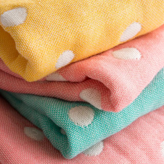 ふわもこガーゼ 5重織りタオル4枚セット