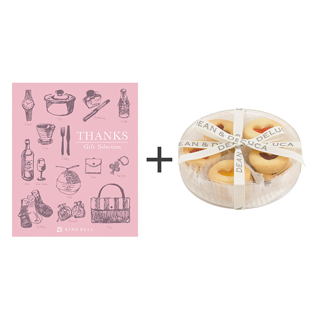 ディーン&デルーカ ハートのジャムサンドクッキーアソート+カタログ式ギフト サンクス ホイップピンク サブ画像1