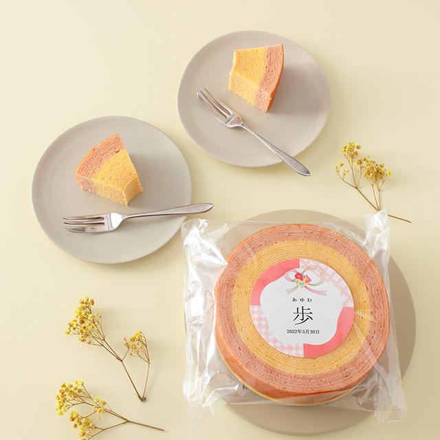 名入れバウムクーヘン&サンドクッキー3個(桐箱入り) サブ画像1
