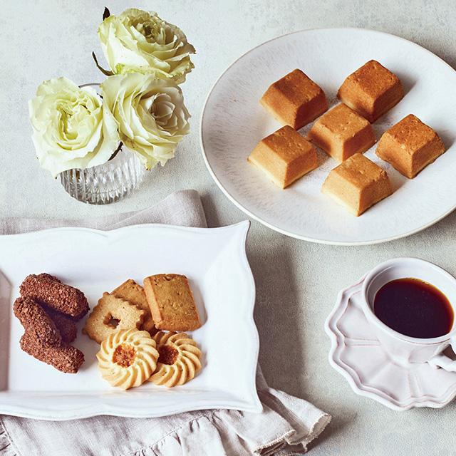 資生堂パーラー 菓子詰合せ+カタログ式ギフト サンクスプレミアム 深藍 サブ画像1