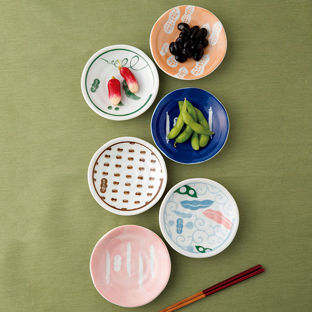 豆々福々 八種小皿揃