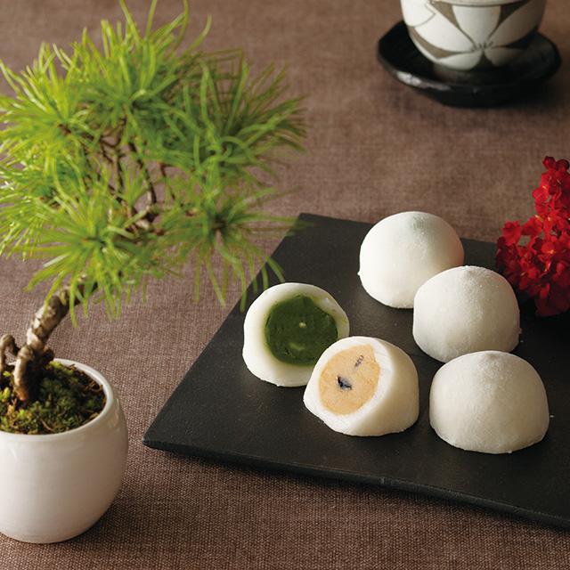 京都・東山茶寮 抹茶ときな粉のクリーム大福 サブ画像1