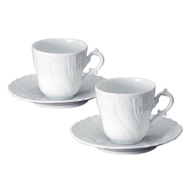 ベッキオジノリホワイト ペアコーヒーカップ&ソーサー サブ画像1