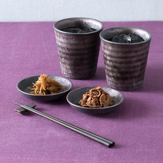 炭彩 ペアロックカップ+浅草今半 牛肉佃煮詰合せセット