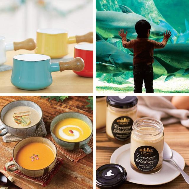 なだ万 なだ万 和風スープ+カタログ式ギフト サンクス ミルクパープル