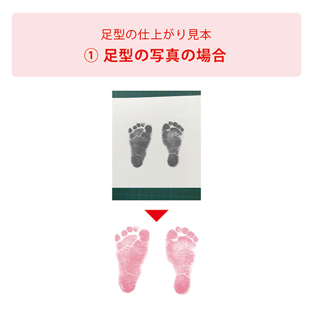 命名フレーム兼フォトフレームダブル(名前・足型・写真) ホワイト(フレーム)×ブルー(足型) サブ画像2