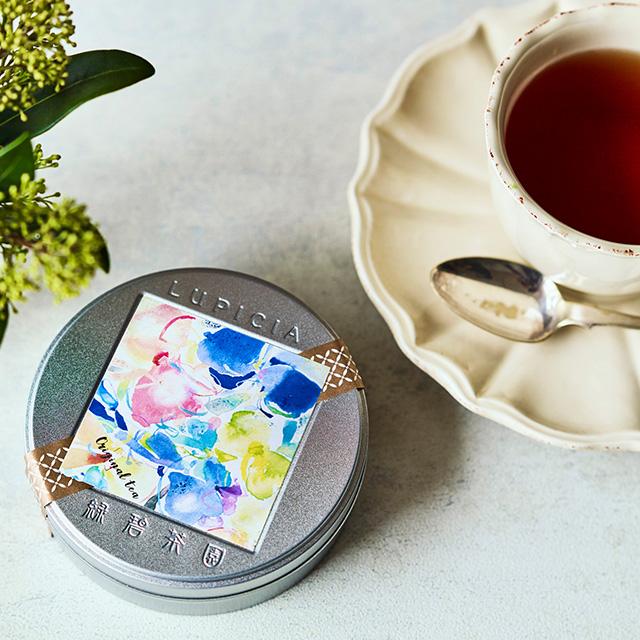 LUPICIA ルピシア ゼクシィオリジナルティー+おぼろ日本の伝統色 浴用タオル2枚セット