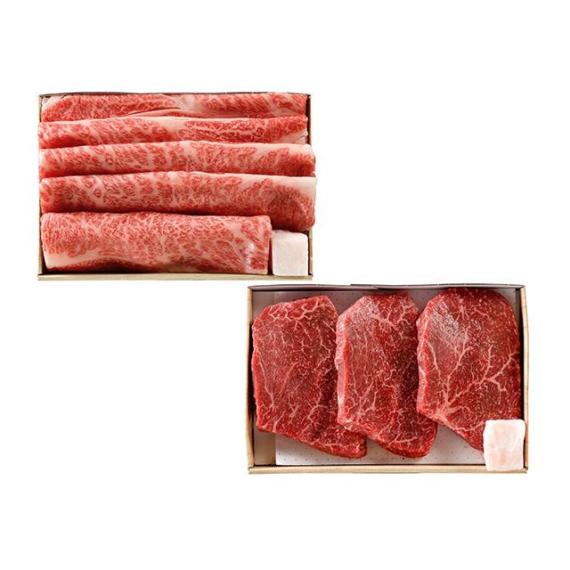 飛騨牛 ステーキ・すき焼セット
