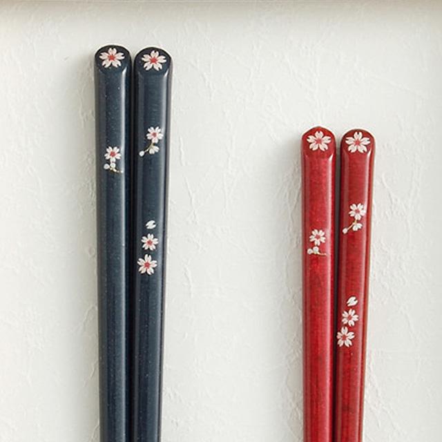 夫婦箸 さくら 箸置き付 サブ画像2