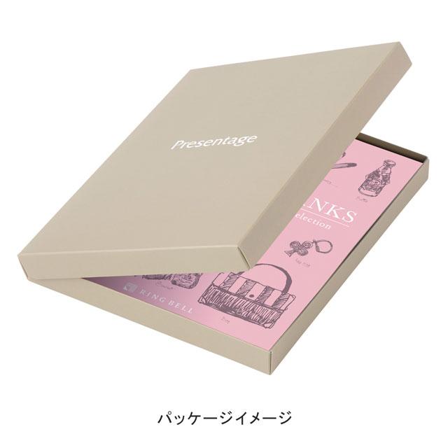 カタログ式ギフト サンクス Mimosa Yellow・ミモザイエロー+有料ラッピング(ピンクの扇と飾紐) サブ画像2