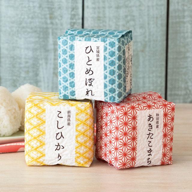 寿々の蔵-SUZUNOKURA- カタログ式ギフト サンクス ミルクパープル+寿々の蔵-SUZUNOKURA- キューブ米6個入(木箱入)