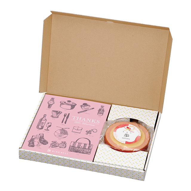 名入れバウムクーヘン+カタログ式ギフト サンクス ホイップピンク サブ画像3