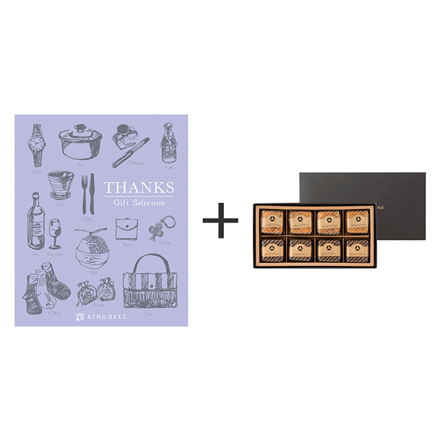 ホテルオークラ ホテルオークラ フルーツ&チョコレートケーキ+カタログ式ギフト サンクス ミルクパープル