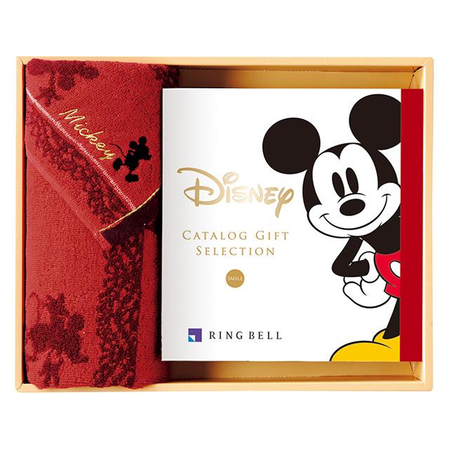 カタログ式ギフト ディズニー SMILE・スマイル&フェイスタオルセット レッド
