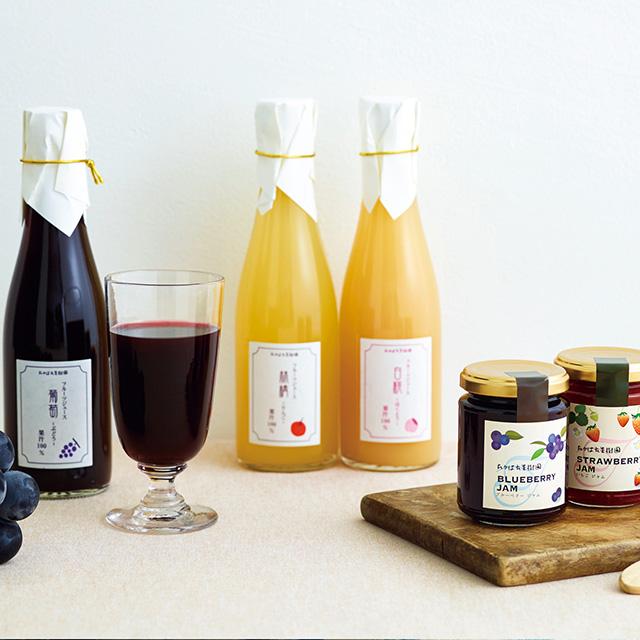 たかはた果樹園 フルーツジュース&ジャムセット メイン画像