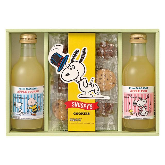 SNOOPY ジュース2本&クッキーセット