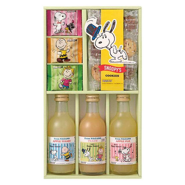 SNOOPY ジュース3本&クッキーセット