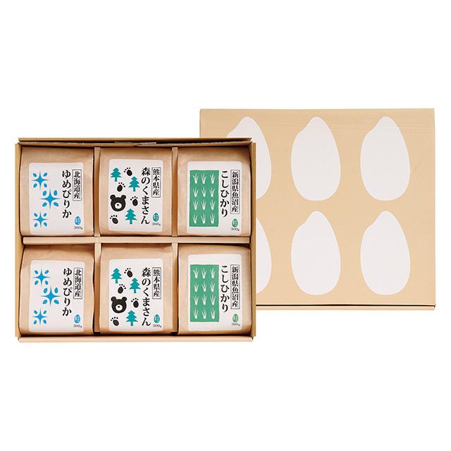 菊太屋米穀店 お米3種食べ比べセット(2合パック)