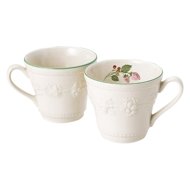 WEDGWOOD Queen's Ware Collection ペアマグ