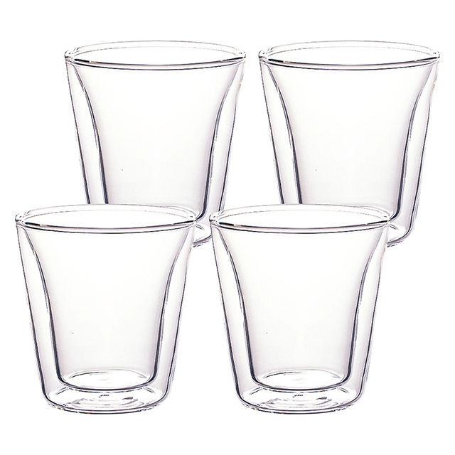 bodum ダブルウォールグラス4個セット