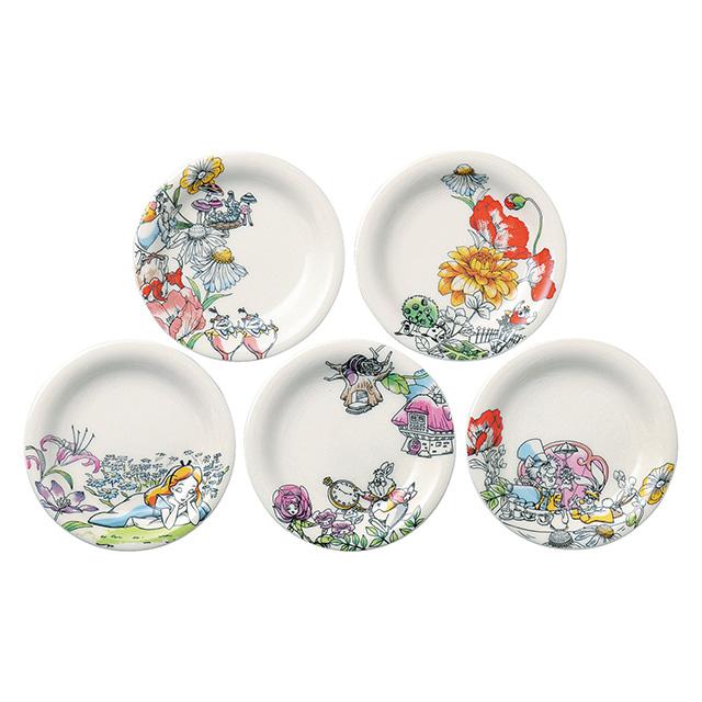 不思議の国のアリス小皿5枚セット