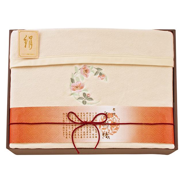 素材の匠 泉州織 泉州織シルク混綿毛布