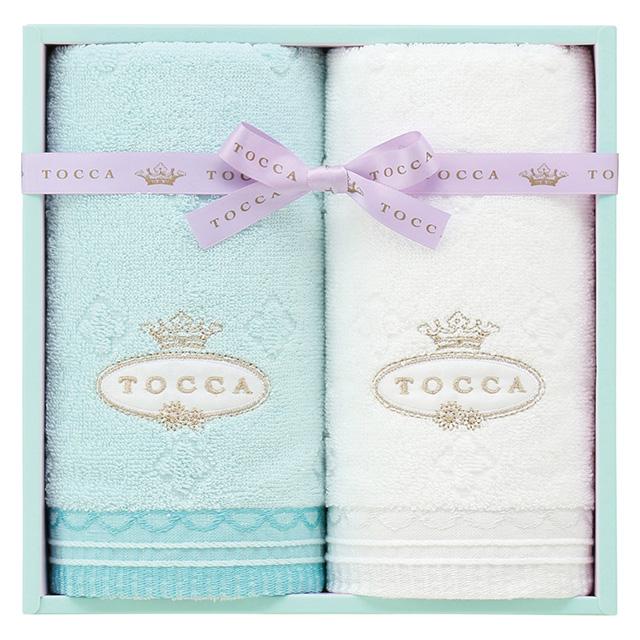 TOCCA フェイスタオル2枚セット ブルー
