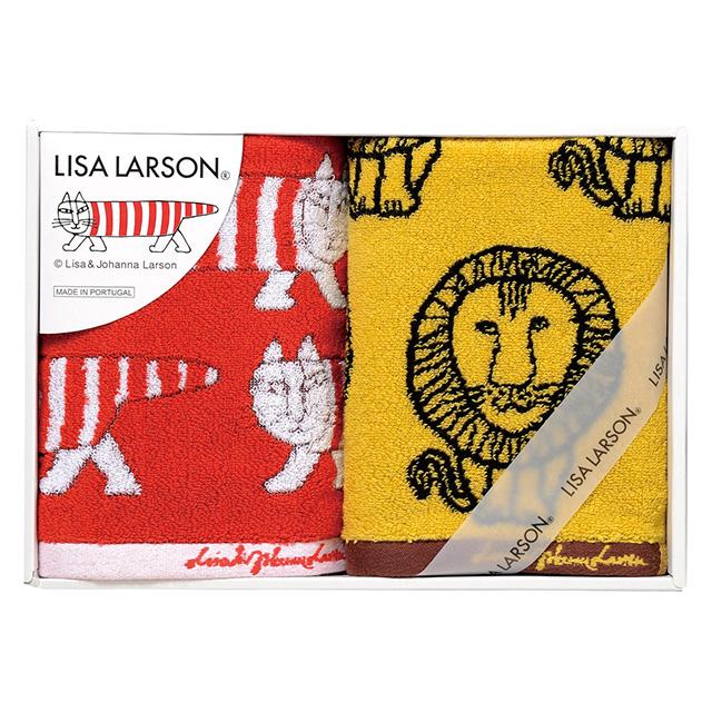 LISA LARSON フェイスタオル2枚セット