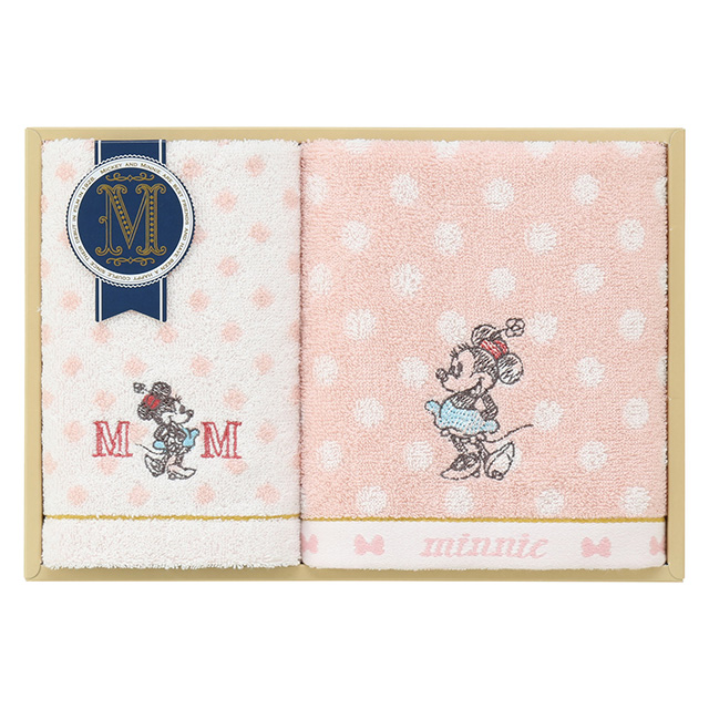 DISNEY COLLECTION presented by UCHINO グッドウィルタオル2枚セット ピンク