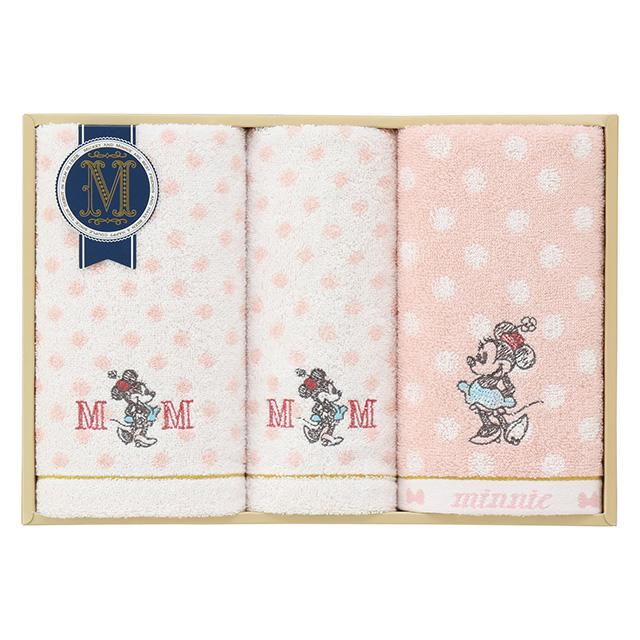 DISNEY COLLECTION presented by UCHINO グッドウィルタオル3枚セット ピンク