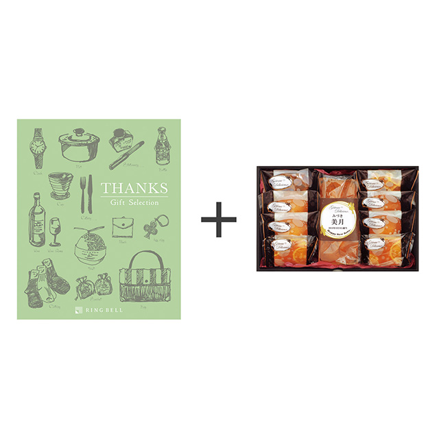 ガトー・デリシュー 焼菓子9個詰合せ+カタログ式ギフト サンクス オリーブグリーン メイン画像