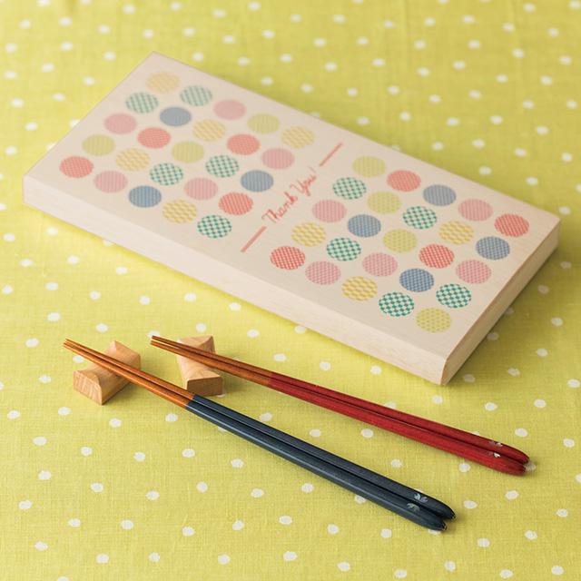 夫婦箸セット 月のしずく桜(木箱入) メイン画像