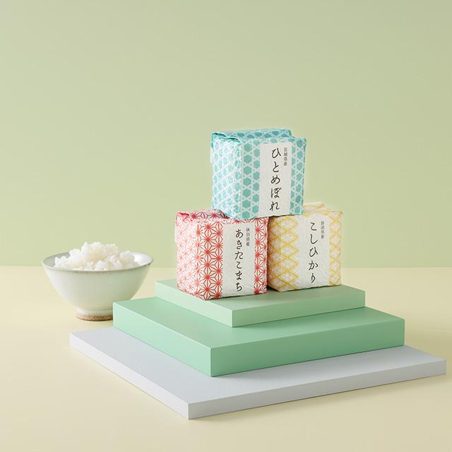 キューブ米9個入(木箱入) メイン画像