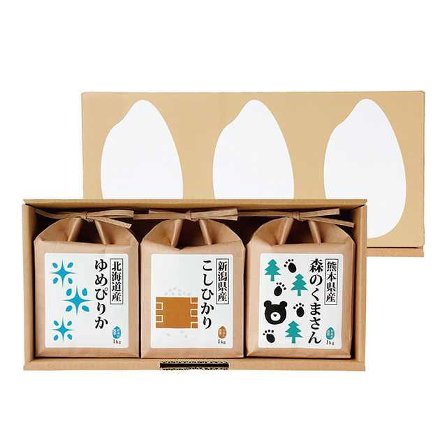 寿々の蔵-SUZUNOKURA- お米3種食べ比べセット