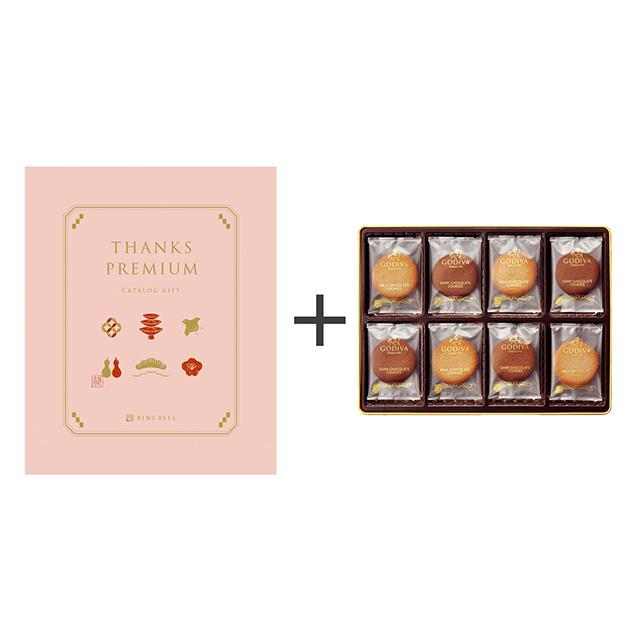 ゴディバ クッキーアソートメント32枚入+カタログ式ギフト サンクスプレミアム 桃花・とうか メイン画像