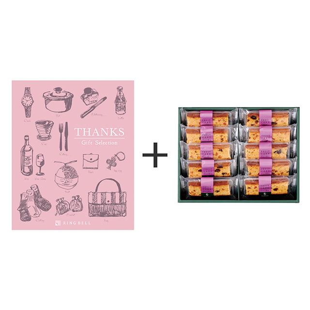 日本橋 千疋屋総本店 フルーツケーキ+カタログ式ギフト サンクス ホイップピンク メイン画像