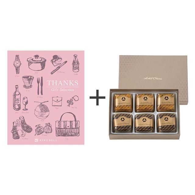 ホテルオークラ フルーツ&チョコレートケーキ+カタログ式ギフト サンクス ホイップピンク メイン画像