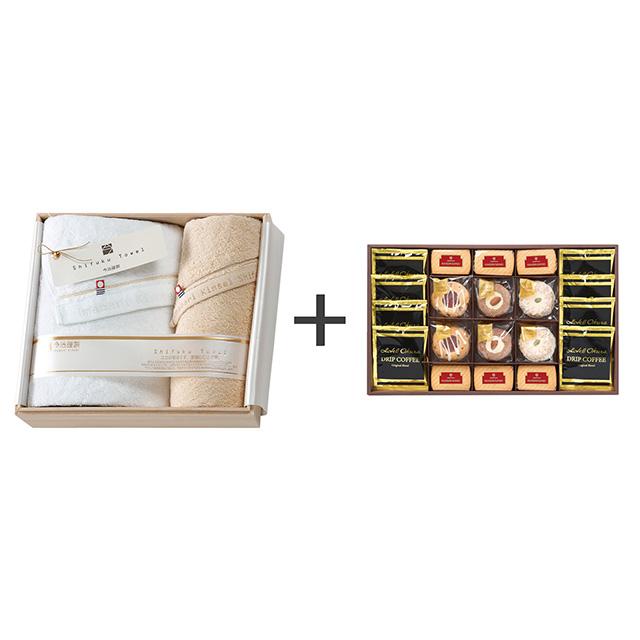 ホテルオークラ コーヒー&スイーツセット+今治謹製 至福タオル タオル2枚セット メイン画像