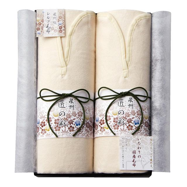 泉州匠の彩 肩あったかシルク混綿毛布2枚セット メイン画像