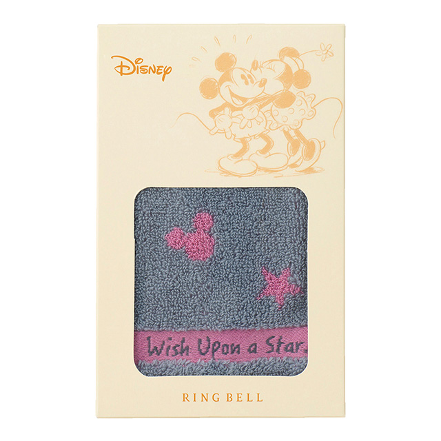 ミッキー 星に願いを タオルハンカチ ピンク メイン画像
