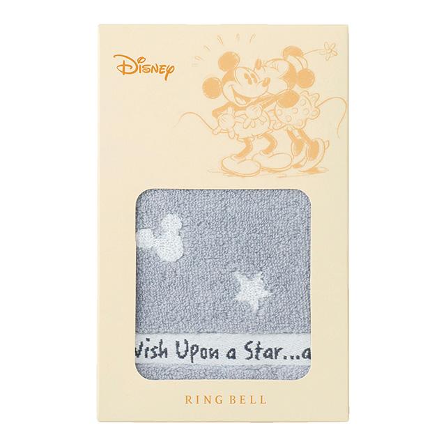 ミッキー 星に願いを タオルハンカチ グレー メイン画像