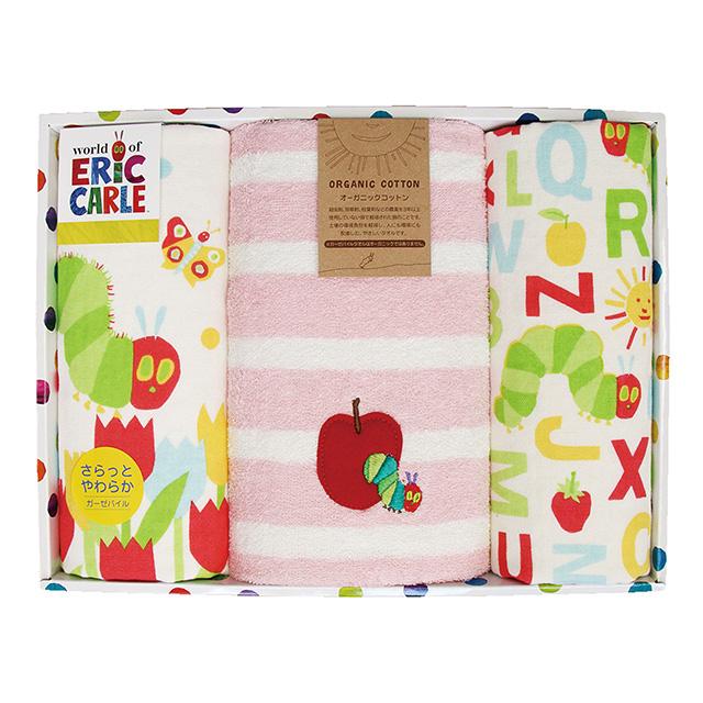タオル3枚セット ピンク メイン画像