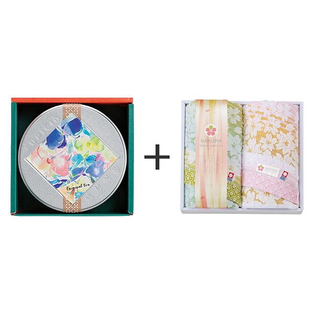 LUPICIA ルピシア ゼクシィオリジナルティー+しまなみ 匠の彩 白桜 フェイスタオル2枚セット