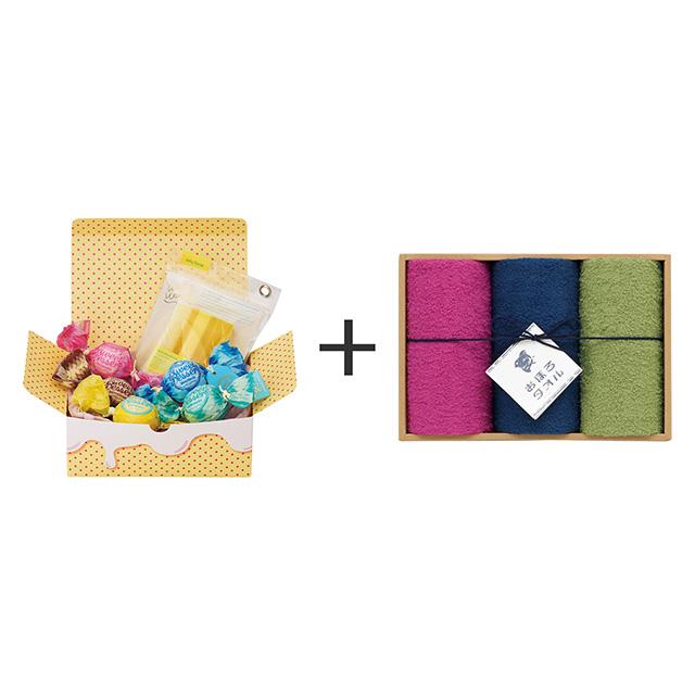 アマイワナ アマイワナ あわあわバスタイムセット+おぼろ日本の伝統色 浴用タオル3枚セット