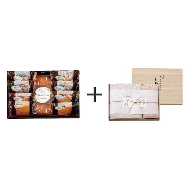 ガトー・デリシュー ガトー・デリシュー 焼菓子9個詰合せ+今治謹製 紋織タオル タオル2枚セット